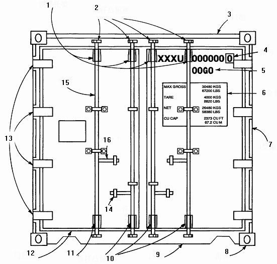 集装箱房子的结构图纸_集装箱的结构解剖分析示意图 - 集装箱价格 - 青岛雷悦重工股份 ...