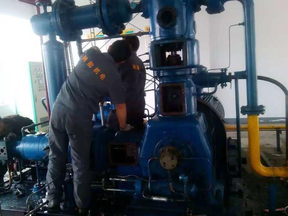 天伦燃气压缩机大修及冷却系统维护保养