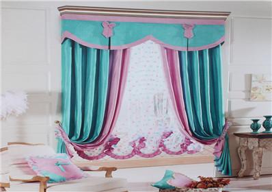 经典拼接卧室窗帘