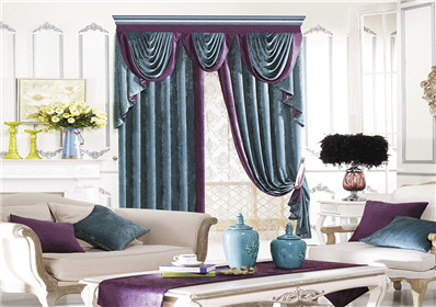经典纯色卧室窗帘
