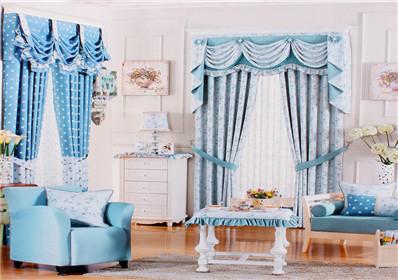 圆点碎花图案卧室窗帘