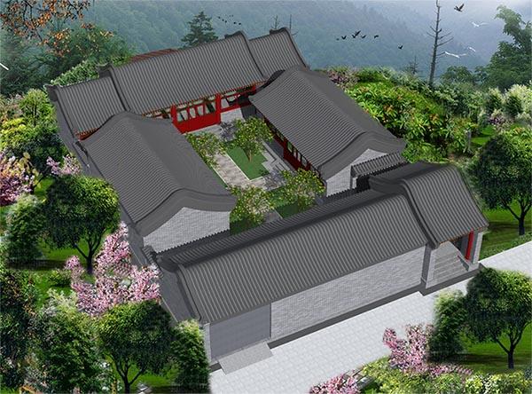 四合院房子修建设计图展示