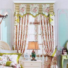 花朵图案卧室窗帘
