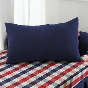 蓝色长方形抱枕