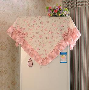 粉色碎花冰箱罩