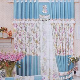 牡丹大花图案卧室窗帘
