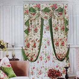 大花图案卧室窗帘