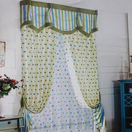 点点图案卧室窗帘
