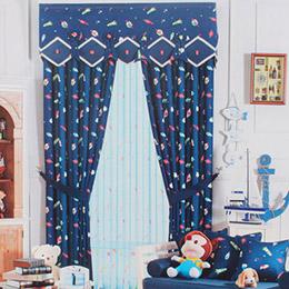 欢乐星空卡通儿童房窗帘