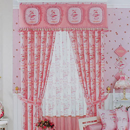 小女孩卡通儿童房窗帘