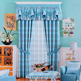 花草图案卧室窗帘