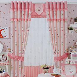 Holle kitty猫卡通儿童房窗帘