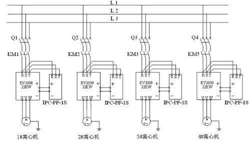 改造前变频器及制动单元系统原理图