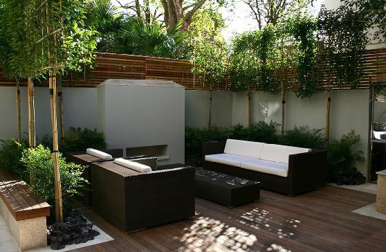 首页 园艺服务 室外内园艺设计 小院花园  打造一个花园式的小院,家具