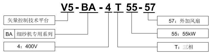 v5-ba系列细纱机专用变频器
