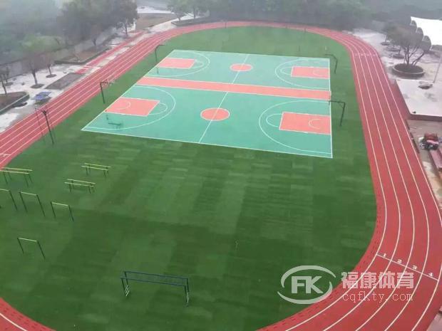 某某学校跑道及篮球场