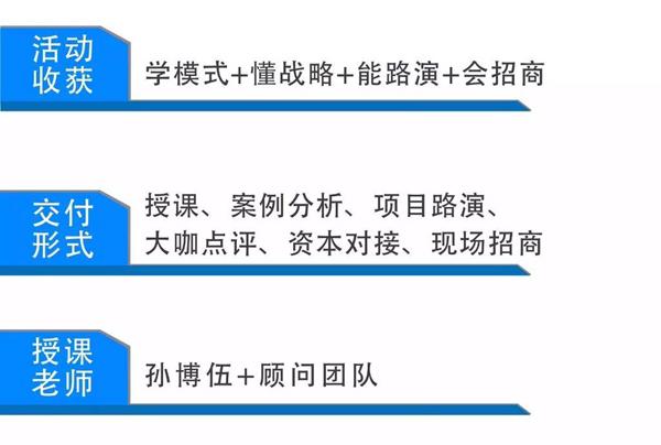 从战略到模式--创新商业系统(11月5-6日长沙站)