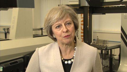 的ABERLINK三坐标测量机出镜英国首相特蕾莎·梅电视采访