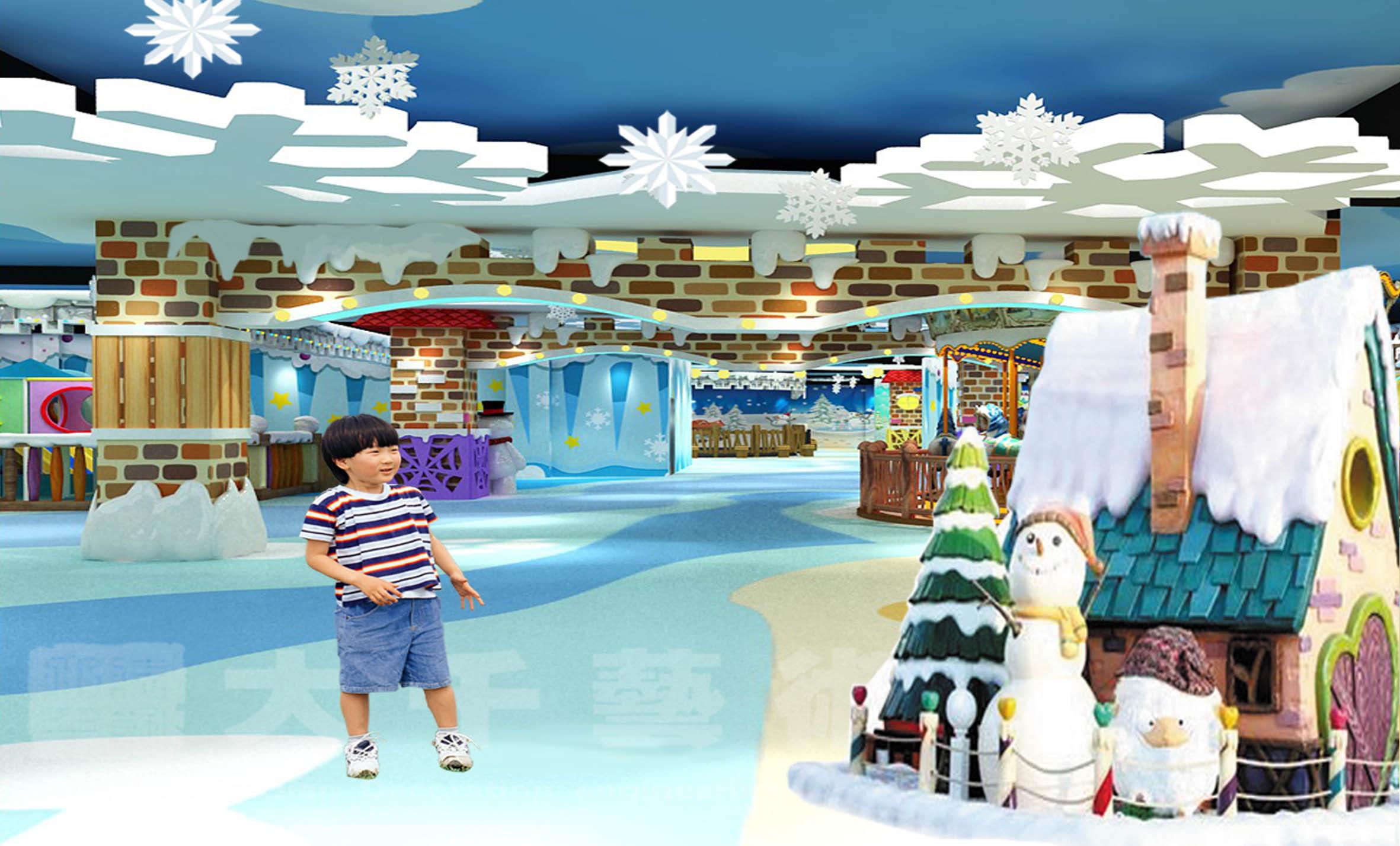 主题儿童乐园设计,玻璃钢摆件装饰,儿童淘气堡设备广州大千装饰工程