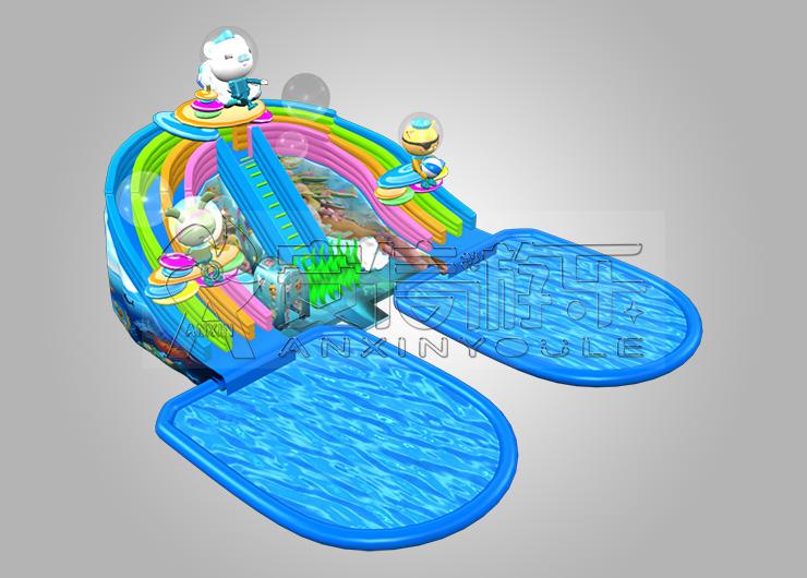 海底小纵队 安信移动水上乐园海底小纵队产品优势:1,质量:充气滑梯