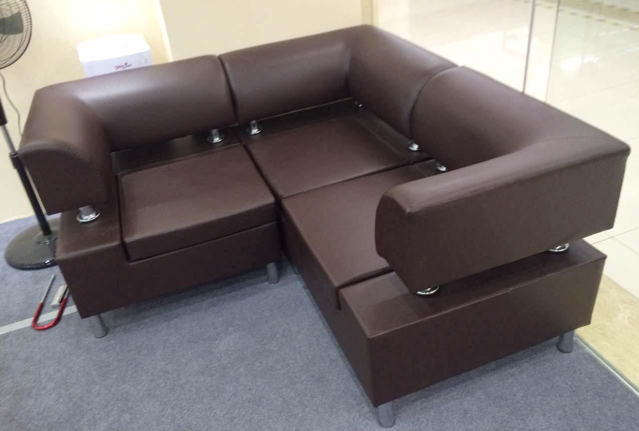 5人位色泽柔和办公休闲沙发