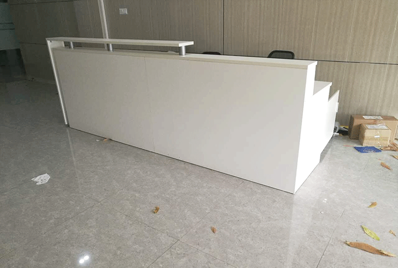 白色雅观板式前台、吧台