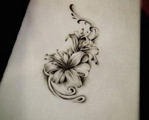 百合花纹身有著百年好合的含义,是气质之花图片