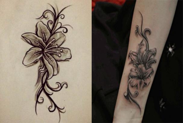 在智利,百合花就是他们的国花,成都龙纹就和您说说百合花纹身图案及含图片