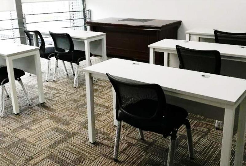 1.3米*0.45米白色矩形培训桌(2人位)