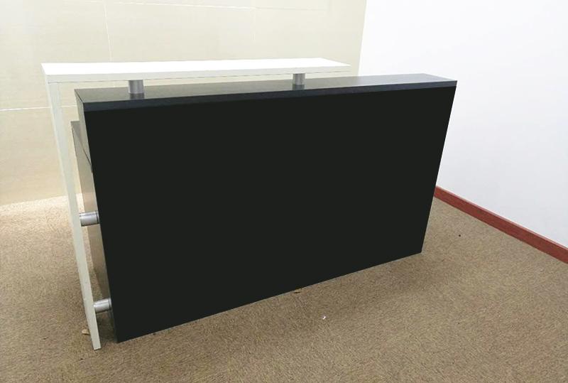 1.8米黑色经典办公、屏风前台