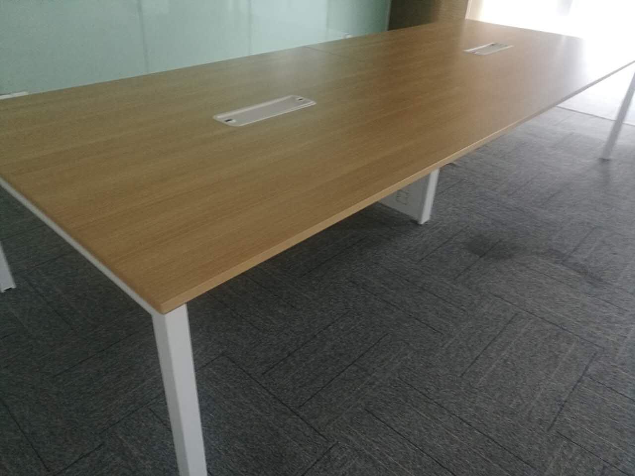 2.8米木纹色现代简易会议桌