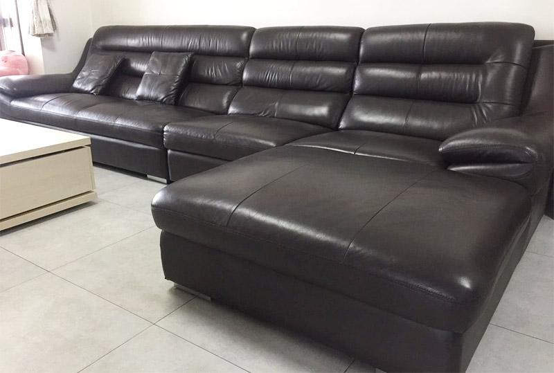 黑色经典软皮舒适办公沙发