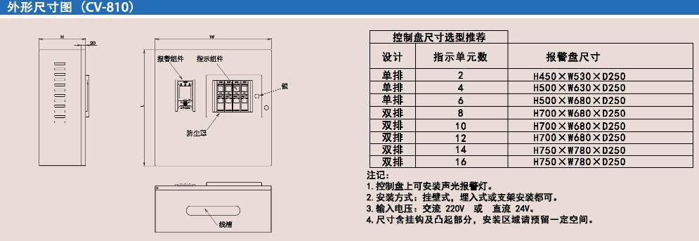 CV810可燃气体报警控制器