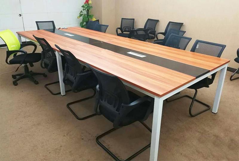 3.6米*1.2米99成新条纹长方形会议桌