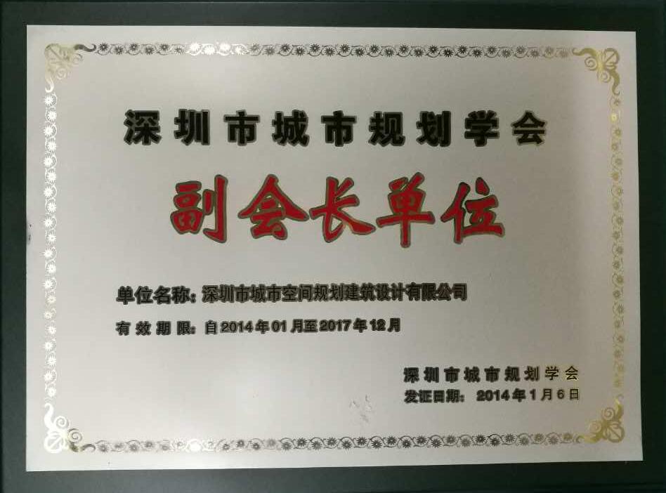 深圳市城市规划协会副会长单位
