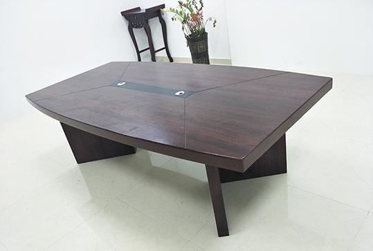 2.4米*1.2米黑色条纹简约长方形会议桌
