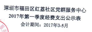 社区中心第二季度支出公示表(红荔)