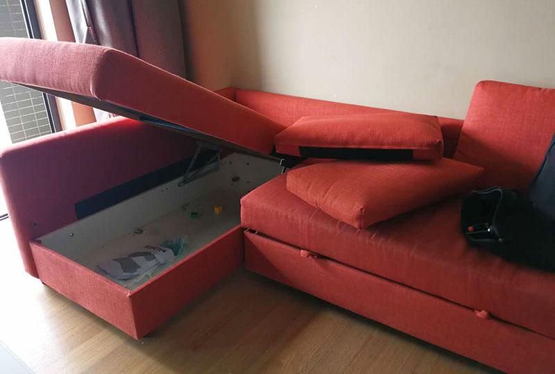 现代欧式红色布艺沙发、办公/家用沙发、休闲沙发