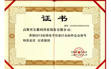 2013电子信息行业标杆企业