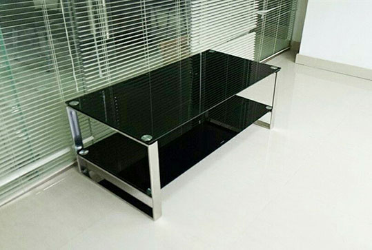 1.2米*0.65米现代黑色玻璃茶几