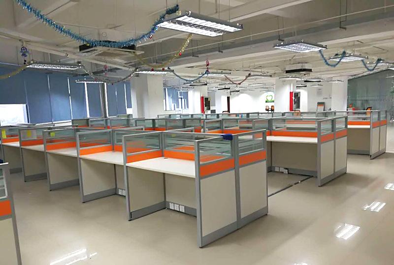 1.2米*0.6米橘黄色独立办公屏风办公卡座