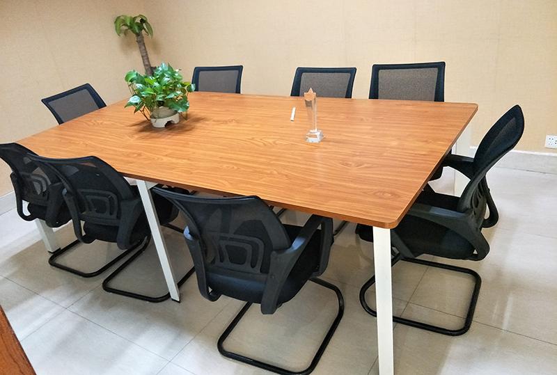 2.4米*1.2米长方形条纹会议桌