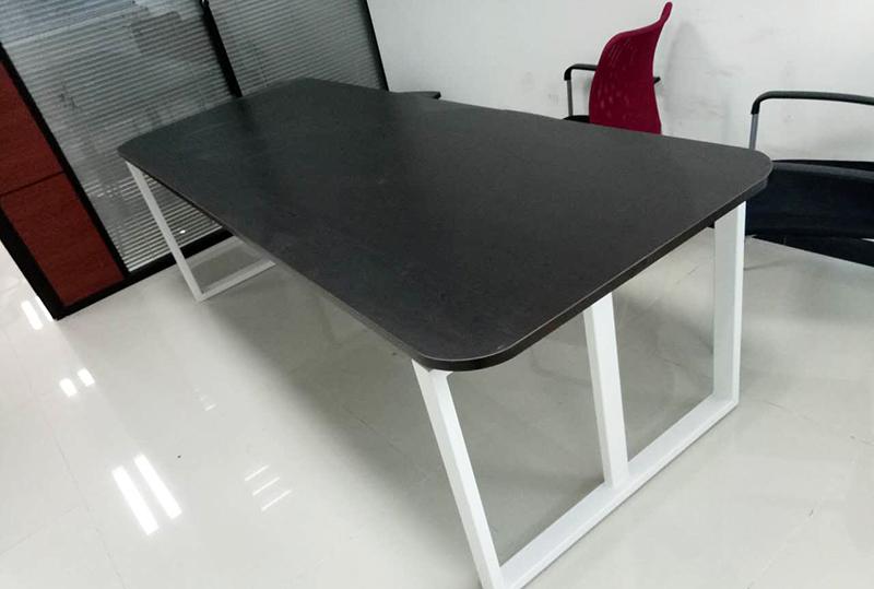 2.4米*1.2米黑色圆角会议桌