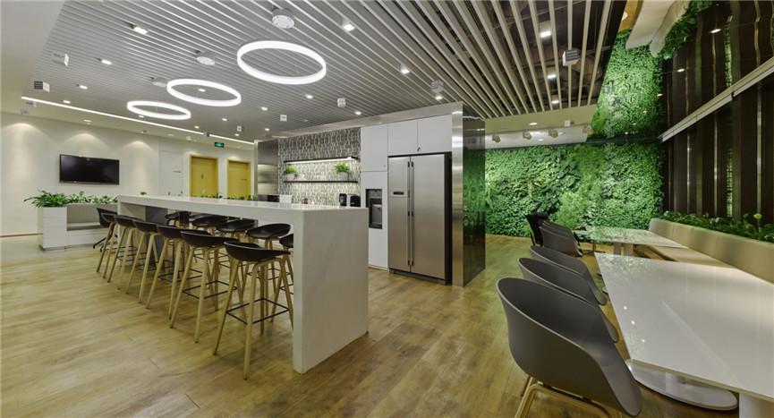 网络通信公司办公室装修设计效果图 郑州通信公司办公