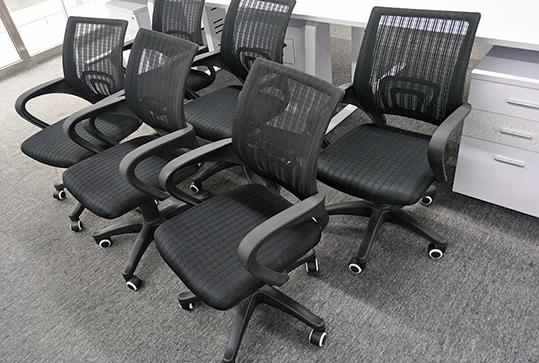 网状靠背员工回型转椅