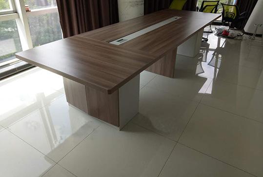 原木色加厚版式会议桌