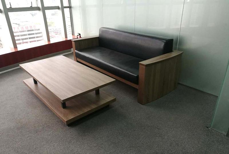 99成新实木办公沙发
