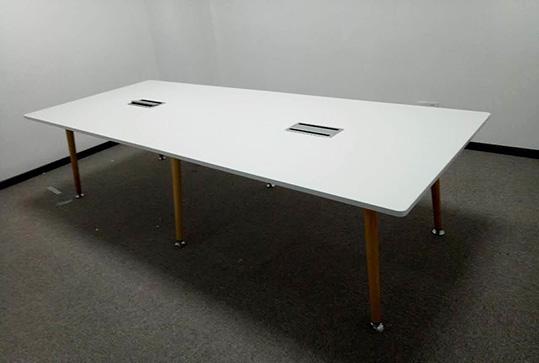 时尚白长方形会议桌