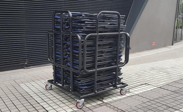 Folding chairs trucks