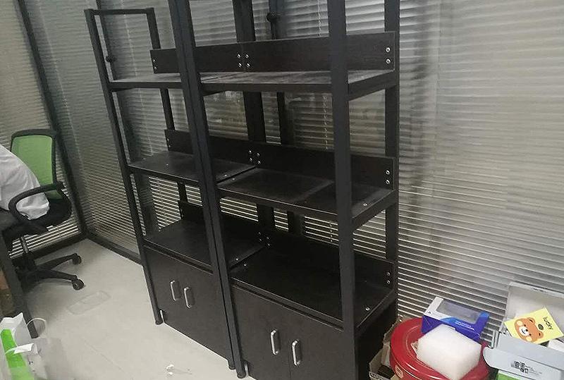 黑色办公货架、储物架